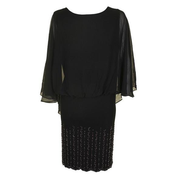 309f78f330d Xscape Plus Size Sleeveless Chiffon Capelet Dress